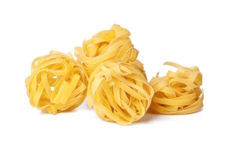 pasta on white background. creative photo. Banco de Imagens