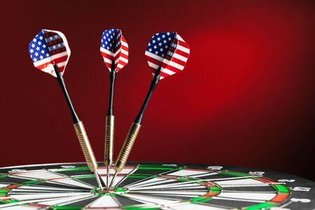 dartboard business success concept. close up. Creative photo. 版權商用圖片