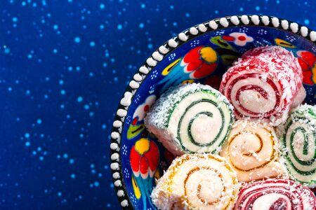 Turkish delight close up. creative