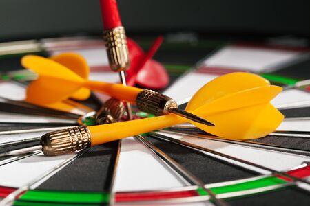 dartboard business success concept. Creative photo. close up
