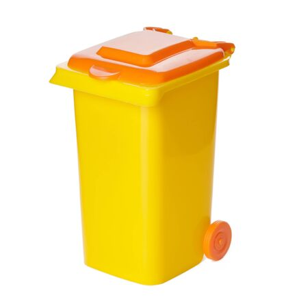 Recycle Bin Isolated on White Background. Archivio Fotografico