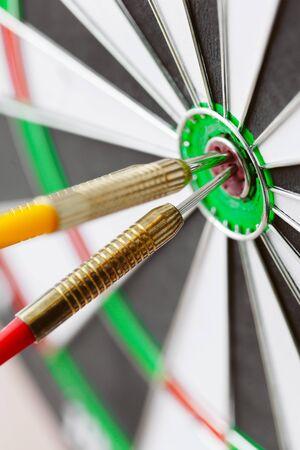 dartboard business success concept close up. creative photo.