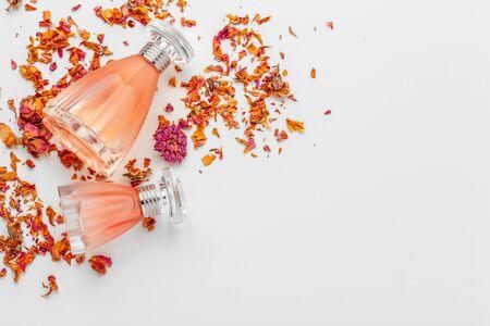 Elegant female perfume. creative photo.