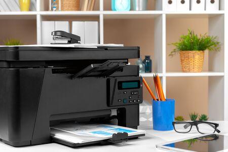 Printer copier scanner in office. Workplace. 写真素材