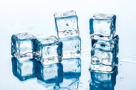 ice cubes on white background. 写真素材