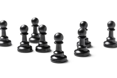 Chess isolated on white background. Close up. Foto de archivo