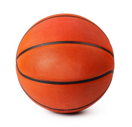 Basketball game ball isolated on white background. Close up.