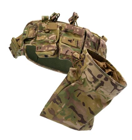 Military body armor isolated on white background Stock fotó