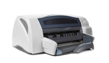 Laser home printer isolated on white background