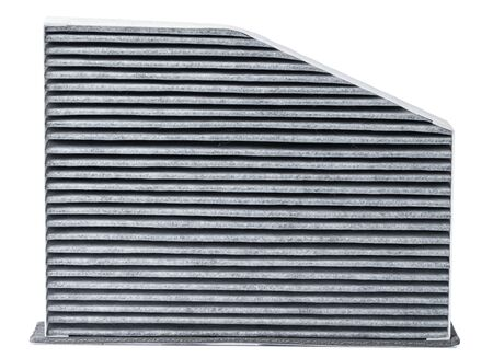 Carbon car air filter isolate on white background. Banco de Imagens