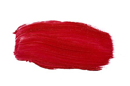 Glossy red lipstick stain swatch isolated on white Stock fotó