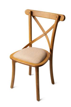 Classic retro chair isolated on white background Archivio Fotografico