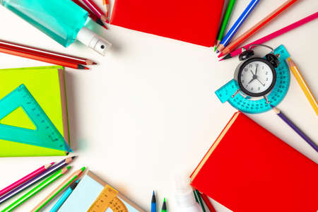 Its time to get back to school. Stationery and alarm clock