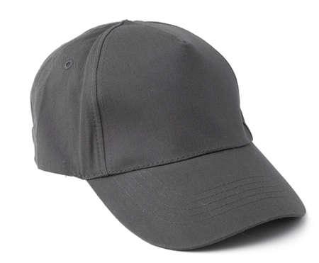 Grey Baseball cap isolated on white background Stock fotó
