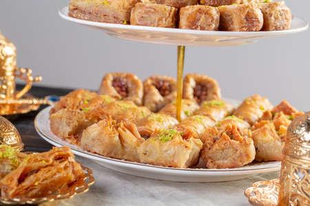 Baklava pastry dessert. Traditional turkish dessert. High quality photo