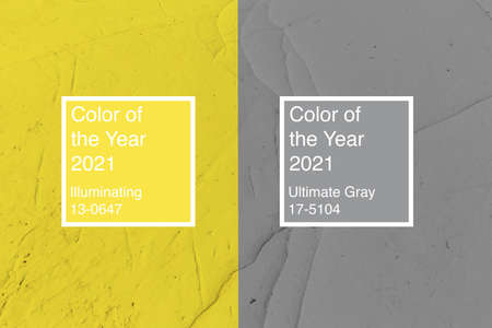 Background of colors of year 2021 Ultimate Gray and Illuminating