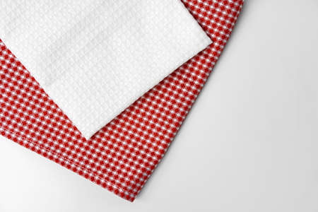 kitchen cloth isolated on white background, close up Reklamní fotografie