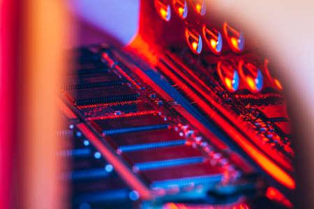 computer random access memory (RAM) close up