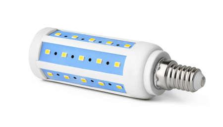 One light bulb isolated on white background Stock Photo