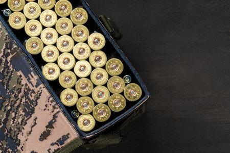 Set of cartridges for a hunting shotgun