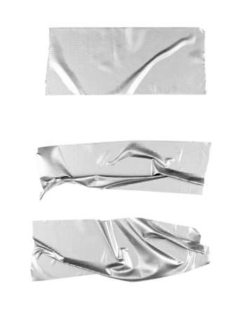Silver tape selection isolated on white background