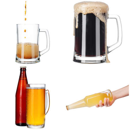 collage of various glasses and bottles of beer