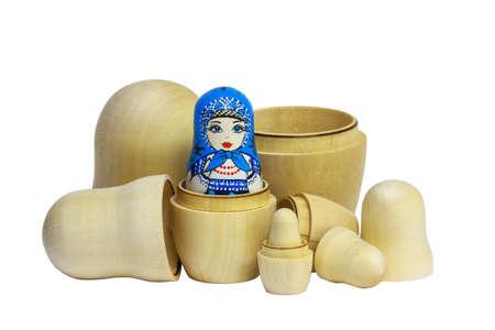 blanks: Matreshka Traditional Russian and blanks for painting dolls. Clean matryoshka.