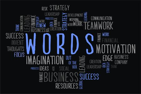 changes in equity: words cloud concept on black background