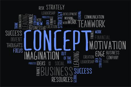 changes in equity: concept word cloud concept on black background