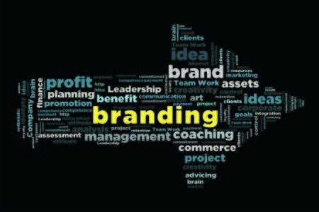 changes in equity: branding word cloud concept in arrow shape