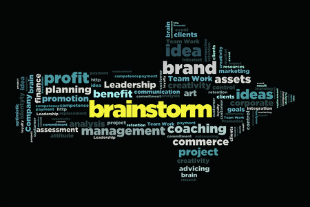 changes in equity: brainstorm word cloud concept in arrow shape
