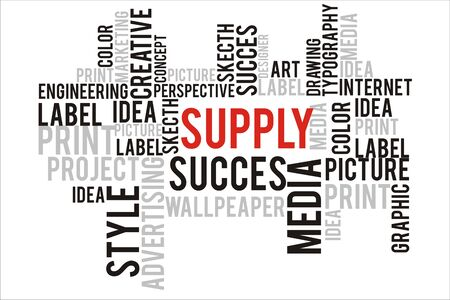 changes in equity: supply word cloud concept Stock Photo