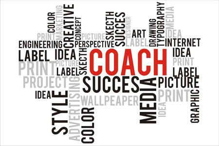 changes in equity: coach word in wordcloud concept