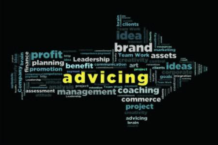 changes in equity: advicing word in arrow shape wordcloud concept Stock Photo