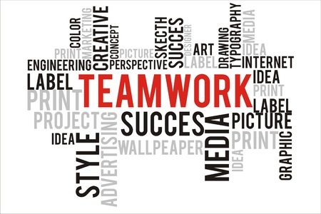 changes in equity: teamwork word in wordcloud concept