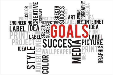 changes in equity: goals word in wordcloud concept Stock Photo