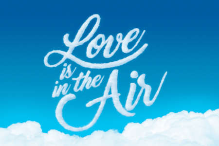 Love is in the air made with clouds