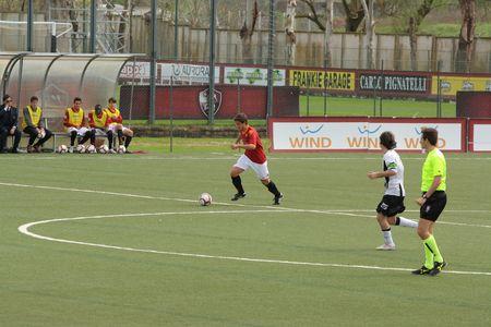 primavera: Trigoria Sports Centre,Rome,Italy - 27 March, 2010 - football match Roma primavera vs Ascoli primavera Editorial