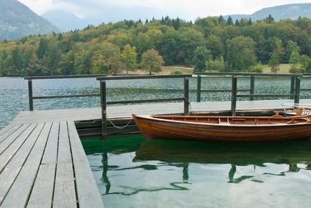 bohinj: detail of the bohinj lake in slovenia