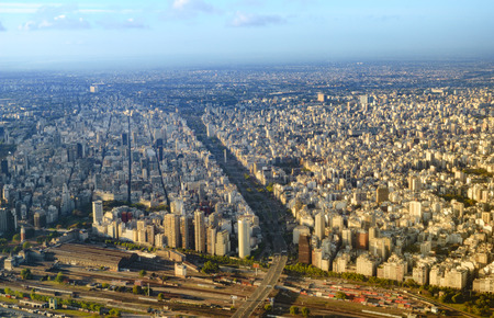 Aerial view of the city of Buenos Aires Argentina