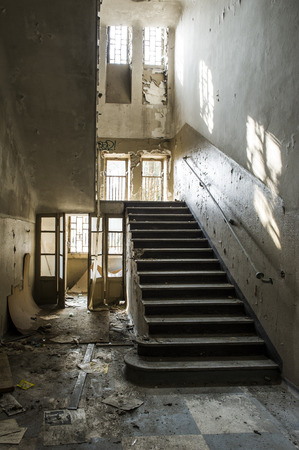 industrial wasteland: Abandoned building