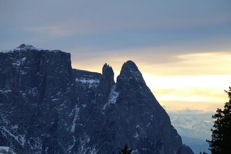 alto: Sunset in the Dolomites of Trentino Alto Adige