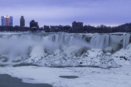 niagara falls: Niagara Falls in winter Stock Photo