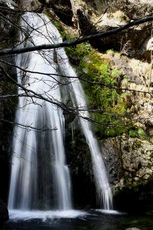 lake of the blades waterfall of ravezza Liguria Italy