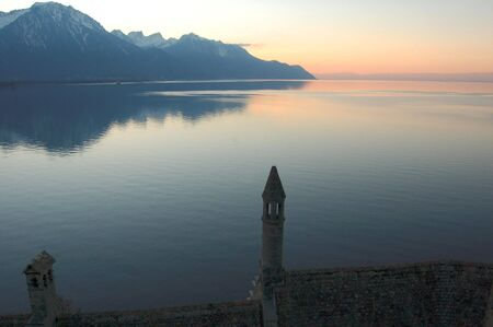 Sunset on Lake Leman
