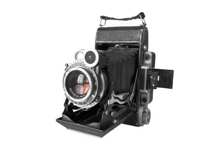 An antique film camera