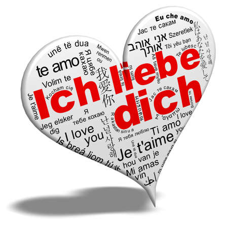 I love you - Ich liebe dich Stock Photo - 12832286