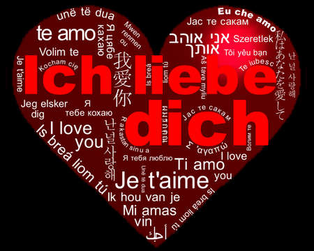 I love you - Ich liebe dich Stock Photo - 12832279