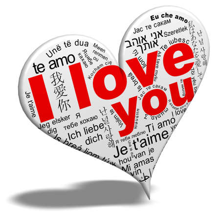 carta de amor: Te amo Foto de archivo
