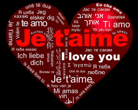 I love you - Je t aime Stock Photo